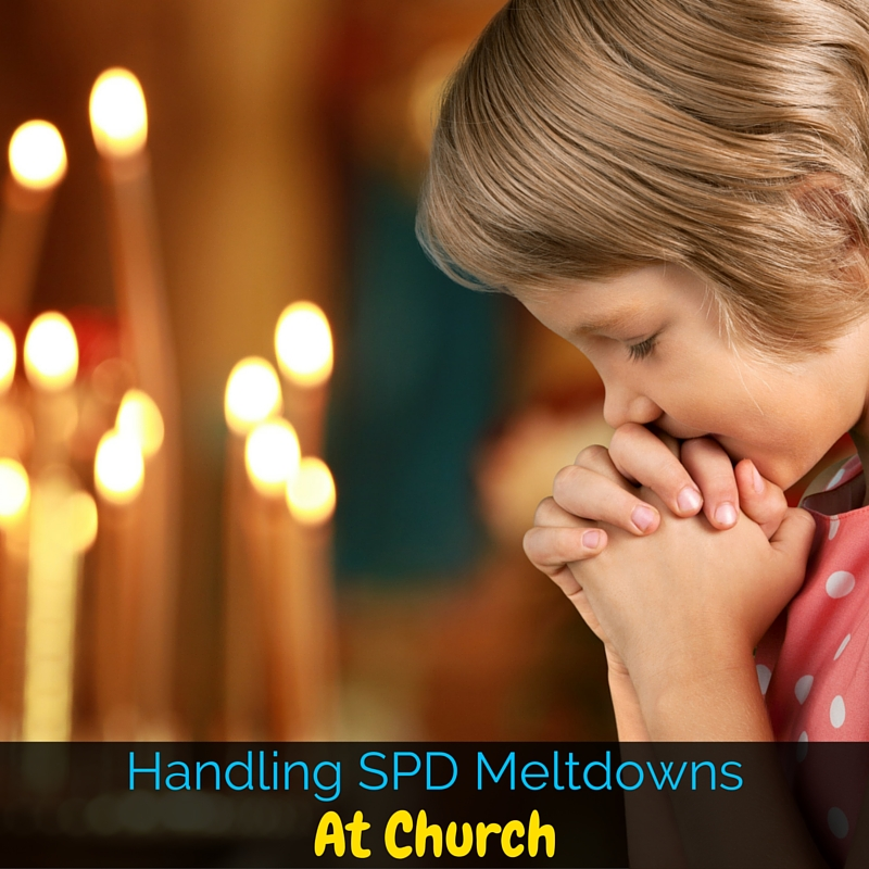 When a child has sensory processing disorder or autism, the meltdowns can be really intense. So how do you handle the sensory meltdowns while you're at church? I'm sharing my tips in this post!