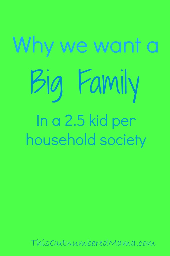 Why we want a Big Family in a 2.5 kids per household world