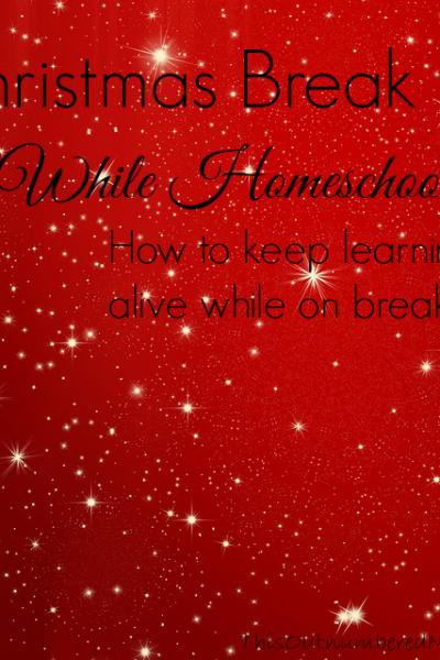 Christmas Break While Homeschooling
