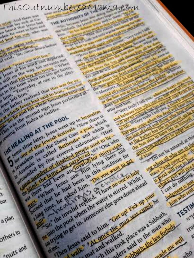 Bible Page Marked Up
