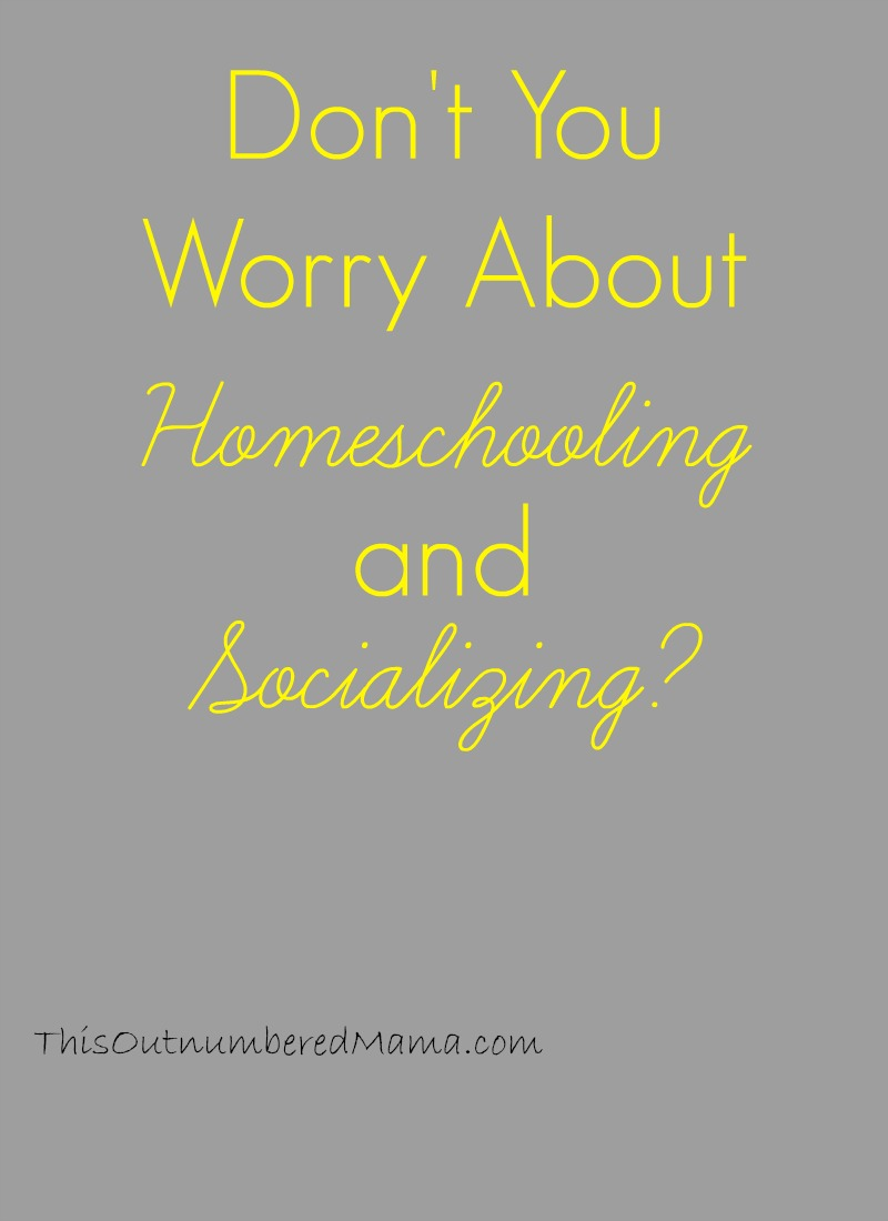 Don't You Worry About Homeschooling and Socializing?