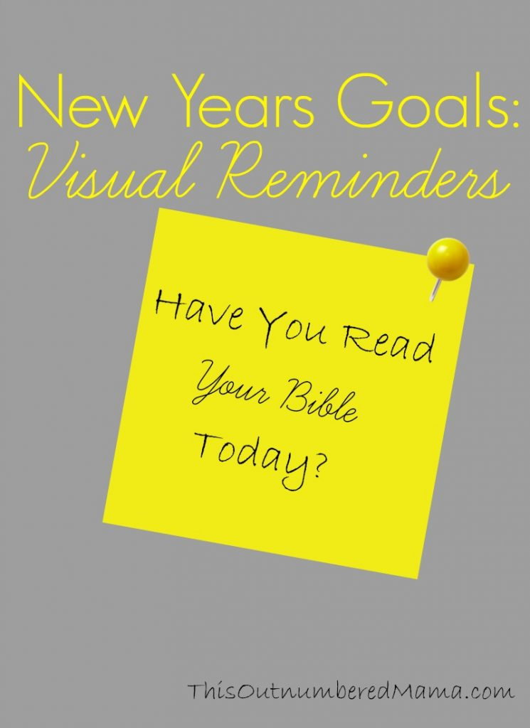 How to use visual reminders to reach your New Years Goals