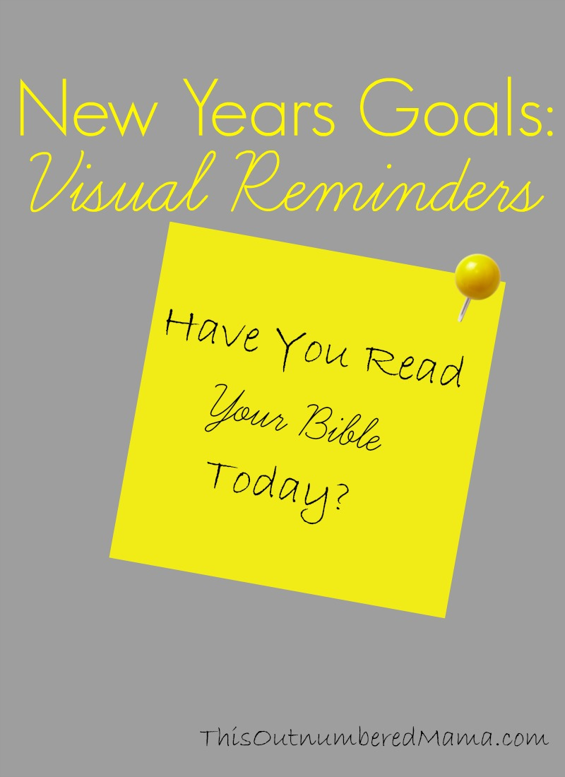New Years Goals: Visual Reminders