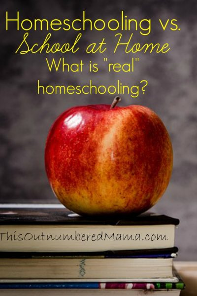 Homeschooling vs. School at Home