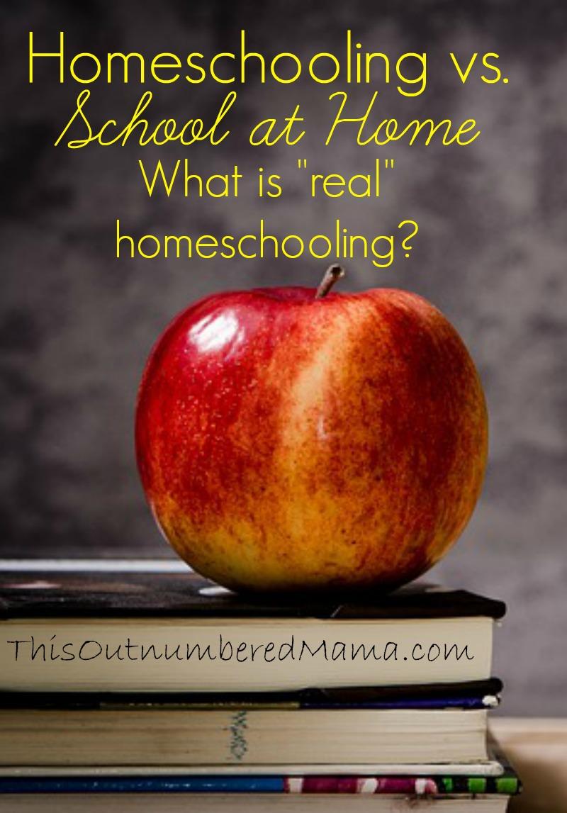 Homeschooling vs. School at Home