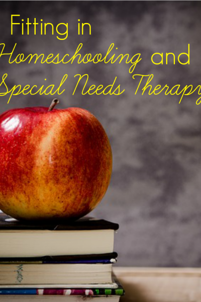 Fitting in Homeschooling and Special Needs Therapies