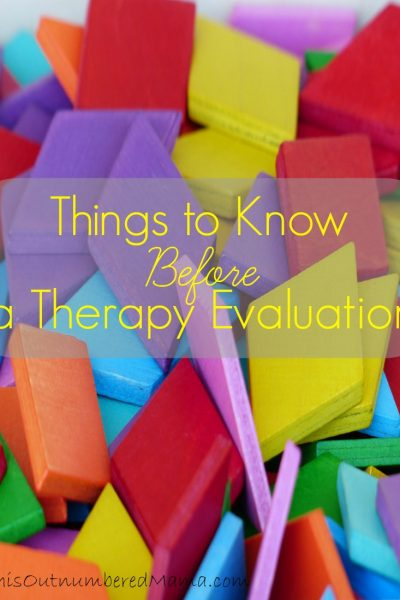 Things to Know Before a Therapy Evaluation