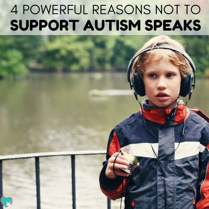 These 4 simple reasons I don't support autism speaks are a must read for all autism mamas! #Autism #ActuallyAutistic #AutismAwareness #AutismAcceptance #AutismMom