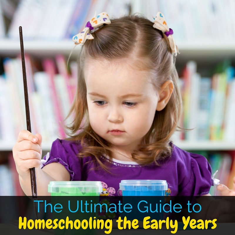 The Ultimate Guide to Homeschooling the Early Years: A round up of homeschooling resources and ideas for homeschooling toddlers through elementary!