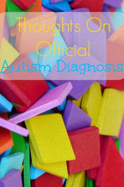 Thoughts on Official Autism Diagnosis