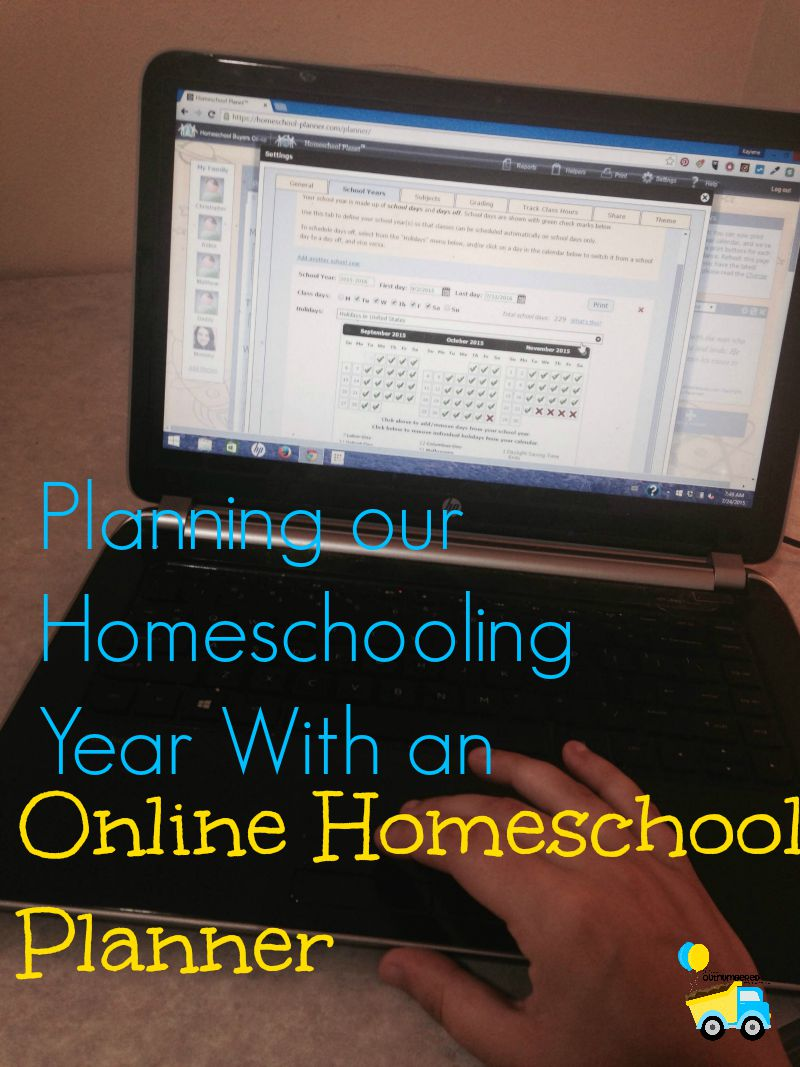 Planning Our Year with an Online Homeschool Planner