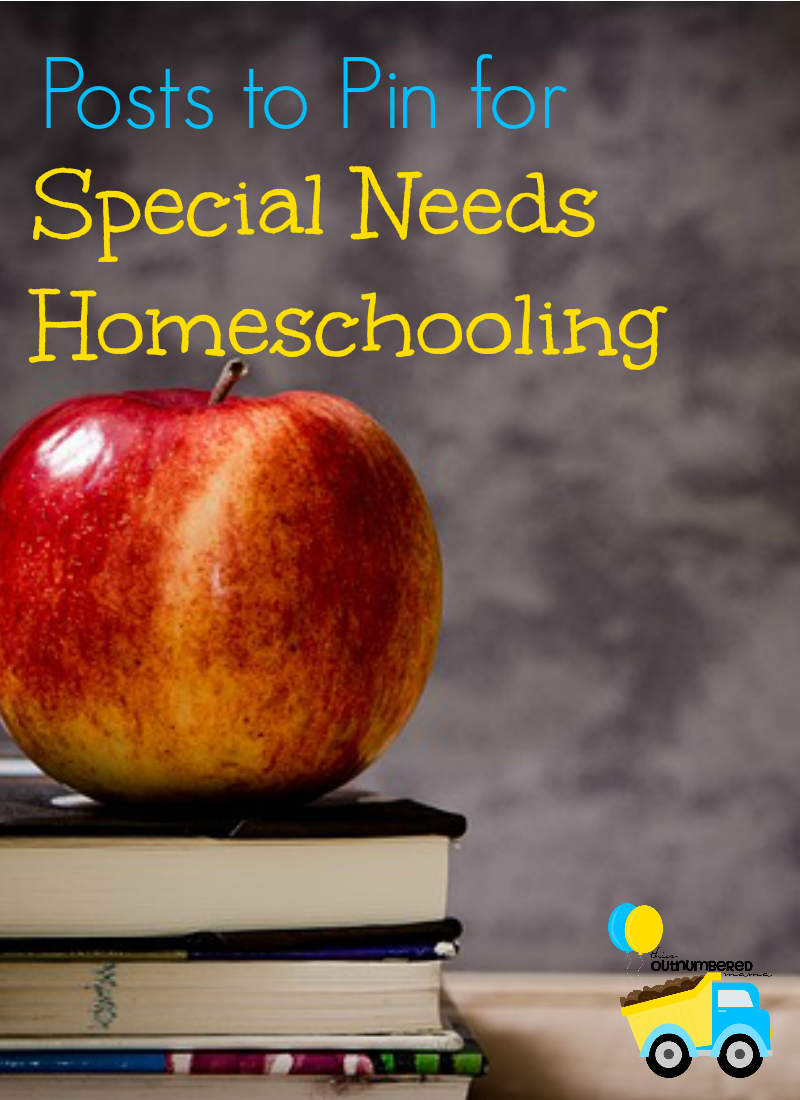 Posts to Pin for Special Needs Homeschooling