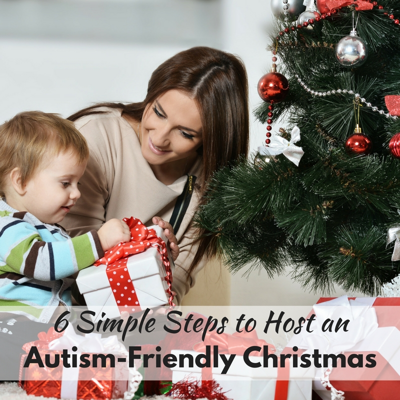A guide for extended family to host an autism friendly Christmas to help their loved ones with autism enjoy the family holidays with everyone else!