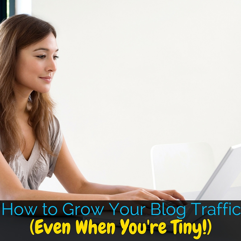 Trying to grow your blog traffic can be overwhelming when you're just starting out and all the advice is from huge bloggers. These tips are for the newbies!