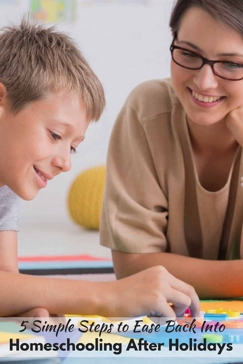 5 Simple Steps to Ease Back into Homeschooling After Holidays