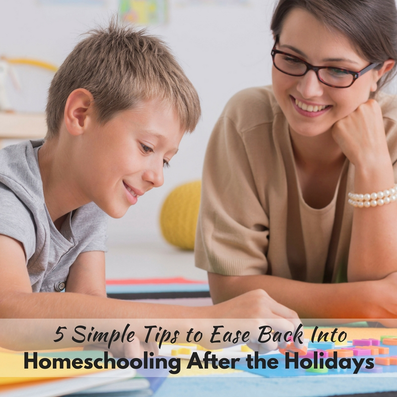 During the holidays, our homeschool routine goes haywire. That's why we need these 5 simple tips to ease back into homeschooling after holidays.