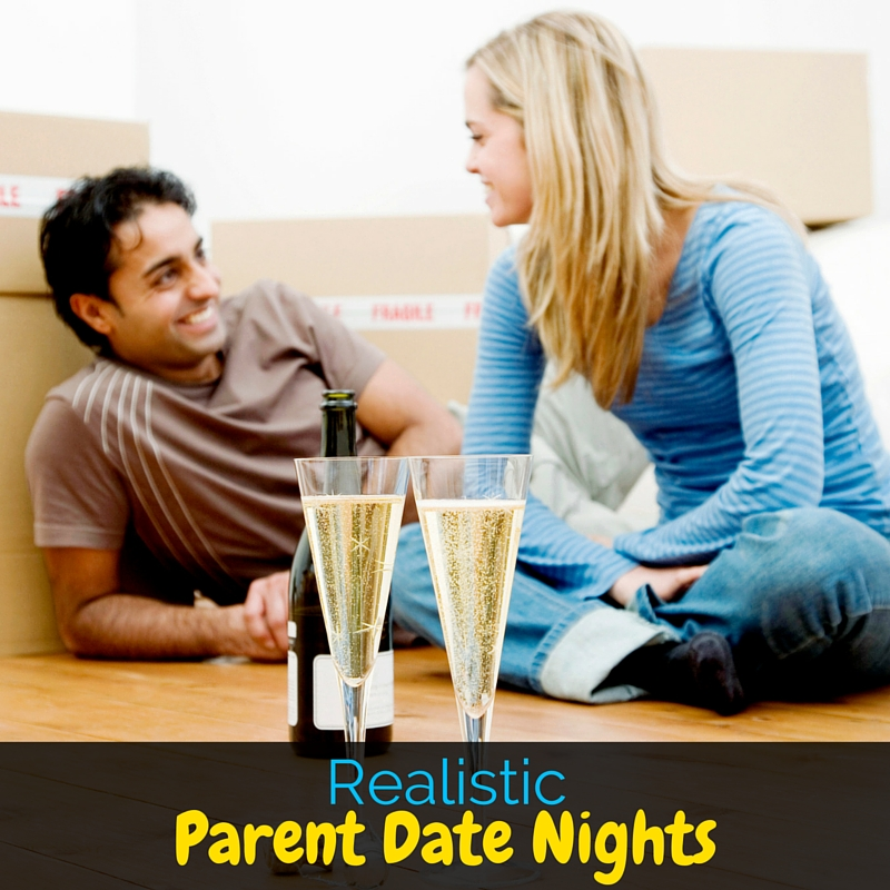 Everyone tells you to make date night a priority, but that isn't always realistic for parents. I'm sharing realistic parent date nights to get you started!