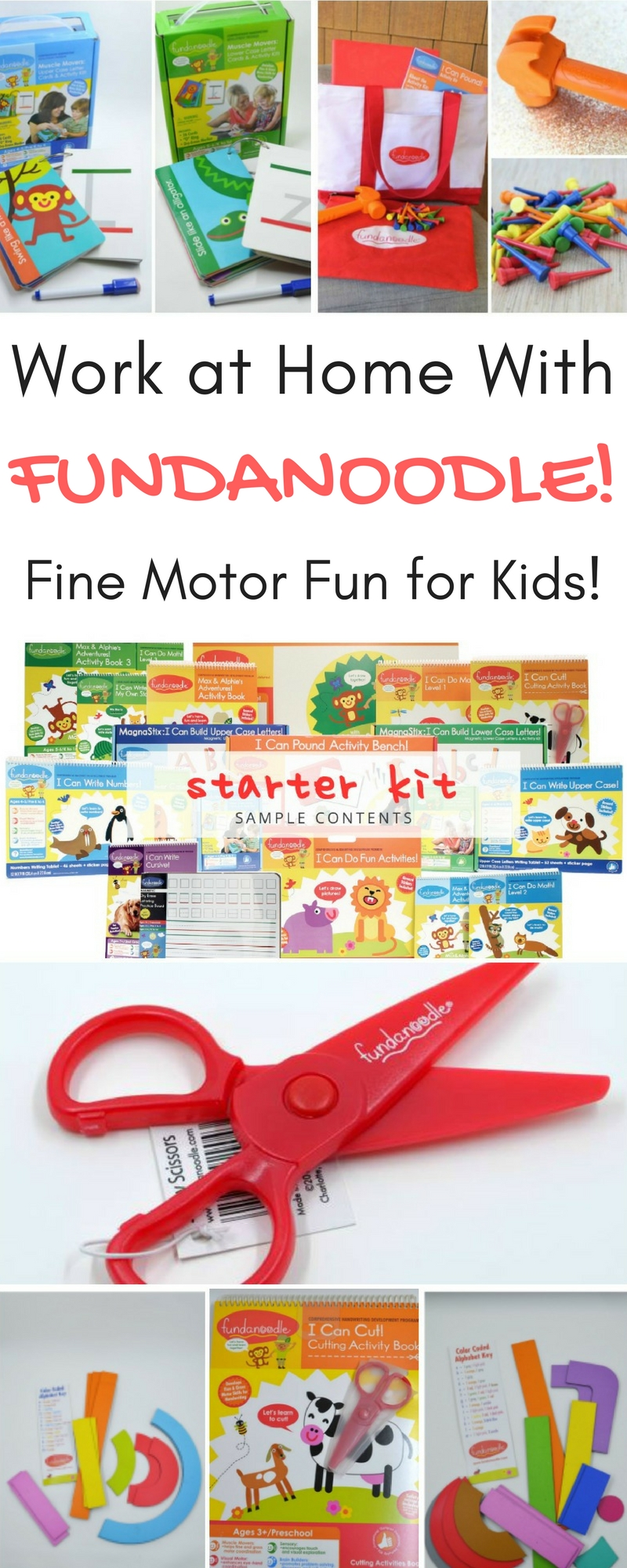 Work at Home with Fundanoodle! Fine Motor Fun for Kids!