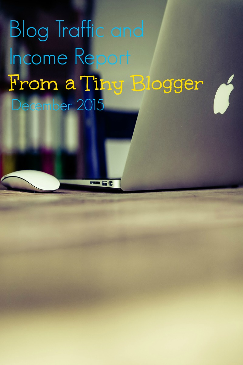 Blog Traffic and Income Report for December 2015