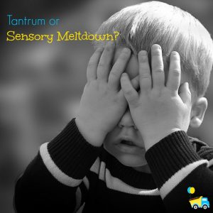 Sometimes it can be hard to tell the difference between a tantrum and a sensory meltdown, but they're very different! Here are a few hints!