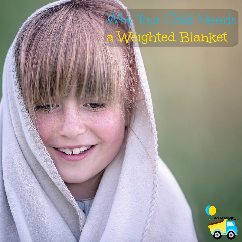 Having a weighted blanket can be a game changer for a child with sensory struggles! I'm sharing why your child needs a weighted blanket to get some sleep!