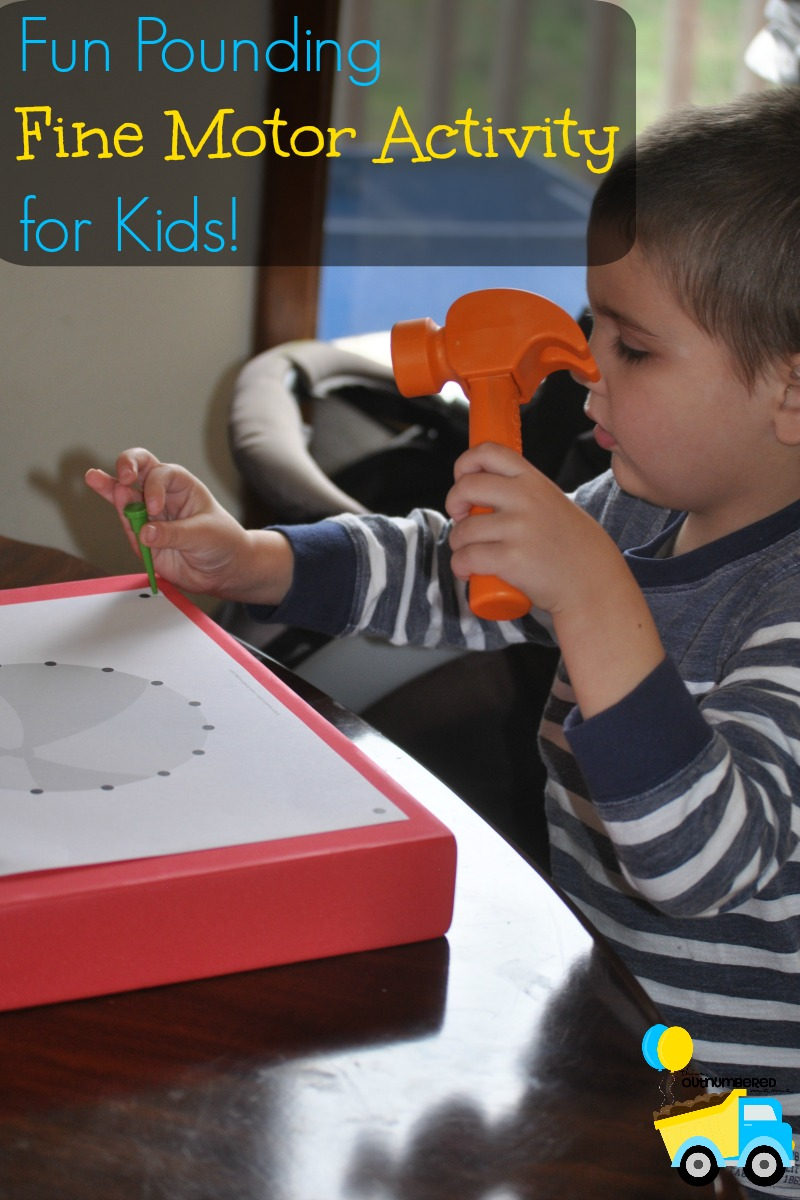 Fun Pounding Fine Motor Activity For Kids Autistic Mama