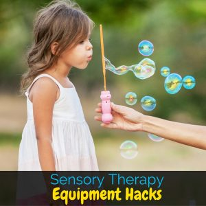 Sensory therapy equipment for kids with sensory processing disorder can be really expensive, but I'm sharing my favorite hacks to bring the prices down!