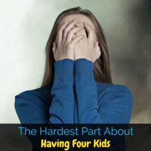 The hardest part of having four kids is definitely not what you think! In this hilarious post I'm sharing all about what makes large family living hard. Guys, this post had me laughing so hard!