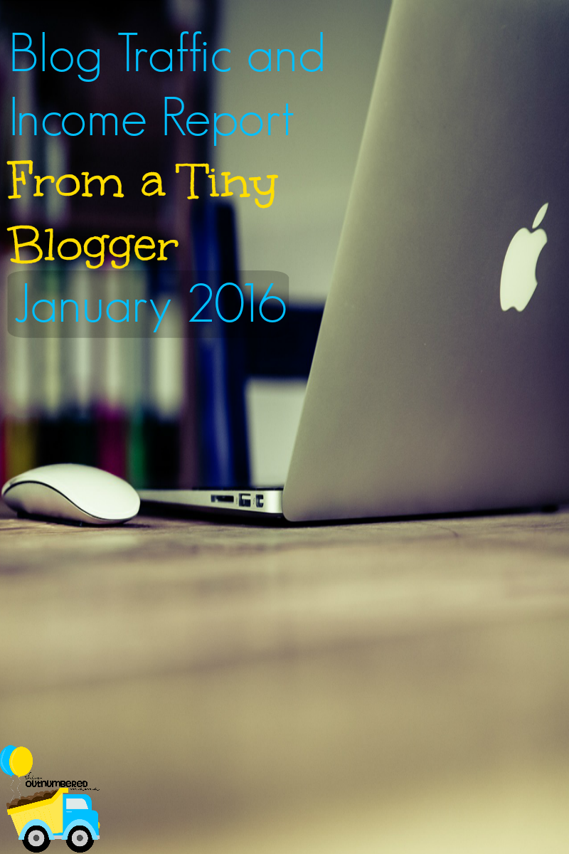 Blog Traffic and Income Report January 2016