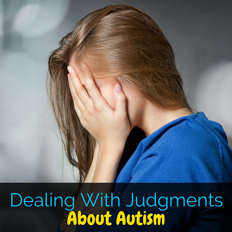 As an autism mama, we deal with a lot of judgment. These are a few ways that I've found of dealing with judgments about autism.
