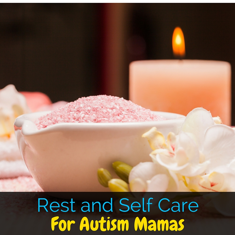 "Finding rest and self care can be incredibly difficult as an autism mama. We never really get to be ""off"", so these tips help us realistically rest!"