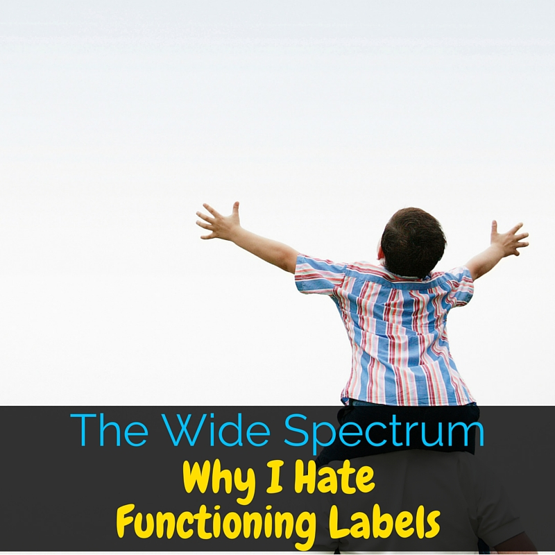 Autism is a wide spectrum which is often described by functioning labels. I'm sharing why I hate functioning labels and what to use instead!