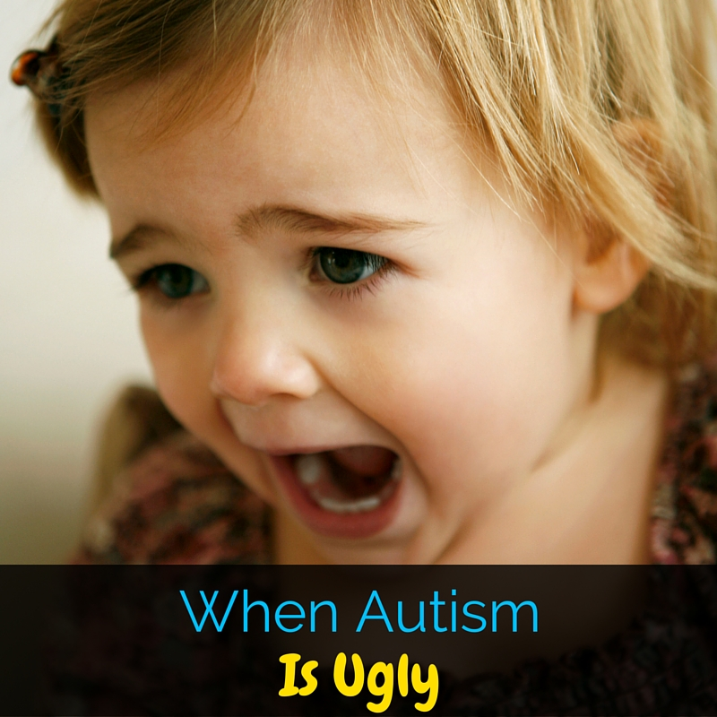 Even appreciating all of the beauty and uniqueness that comes with autism, there are some days when autism is ugly. I'm sharing about that today.