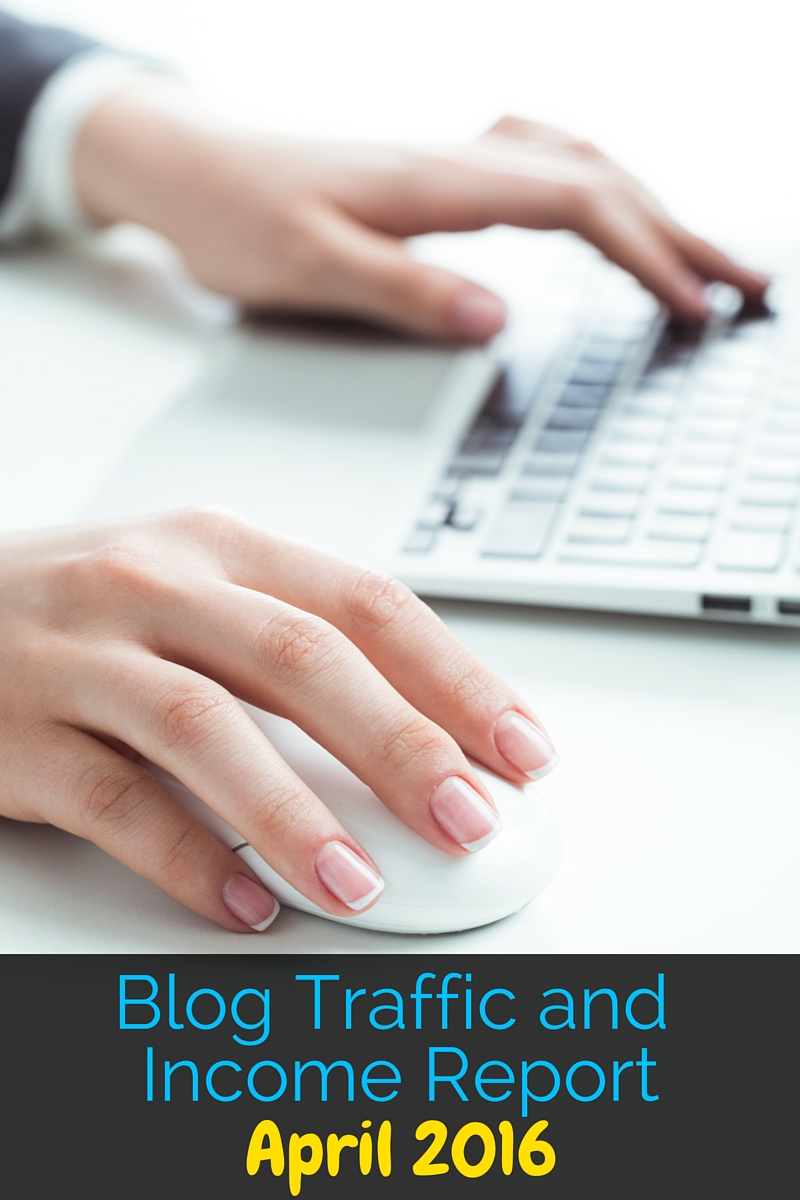 Blog Traffic and Income Report April 2016