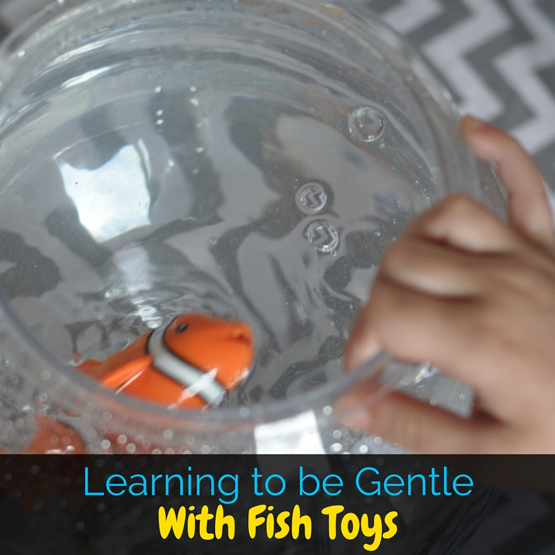 My boys are learning to be gentle with animals with these fun Lil' Fishys fish toys! The boys love them, and I love that they're learning!