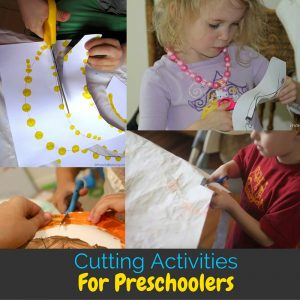 Scissor skills are important to learn in preschool, but it can be hard to support those skills at home. These cutting activities for preschool will help!