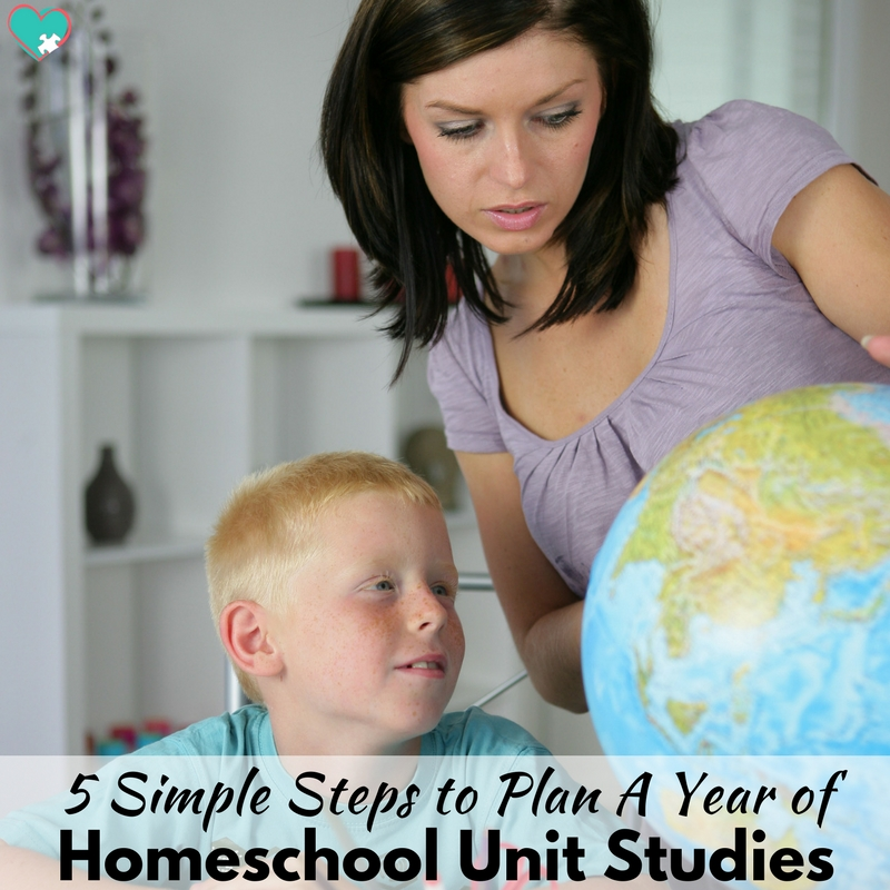 5 Simple Steps to Plan a Year of Homeschool Unit Studies