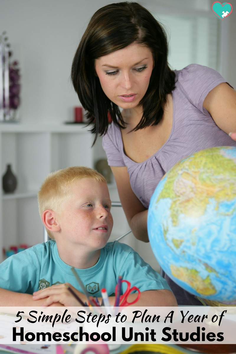 5 Simple Steps to Plan a Year of Homeschool Unit Studies