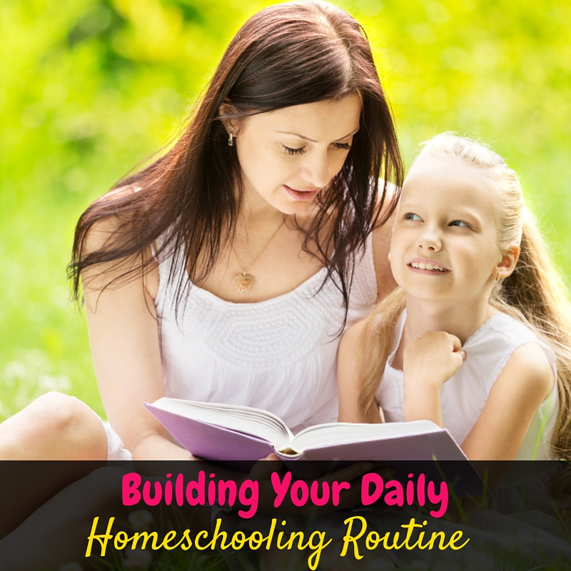 Building a daily homeschool routine isn't following a time schedule! Follow the natural rhythms of your family for the perfect daily homeschool routine!