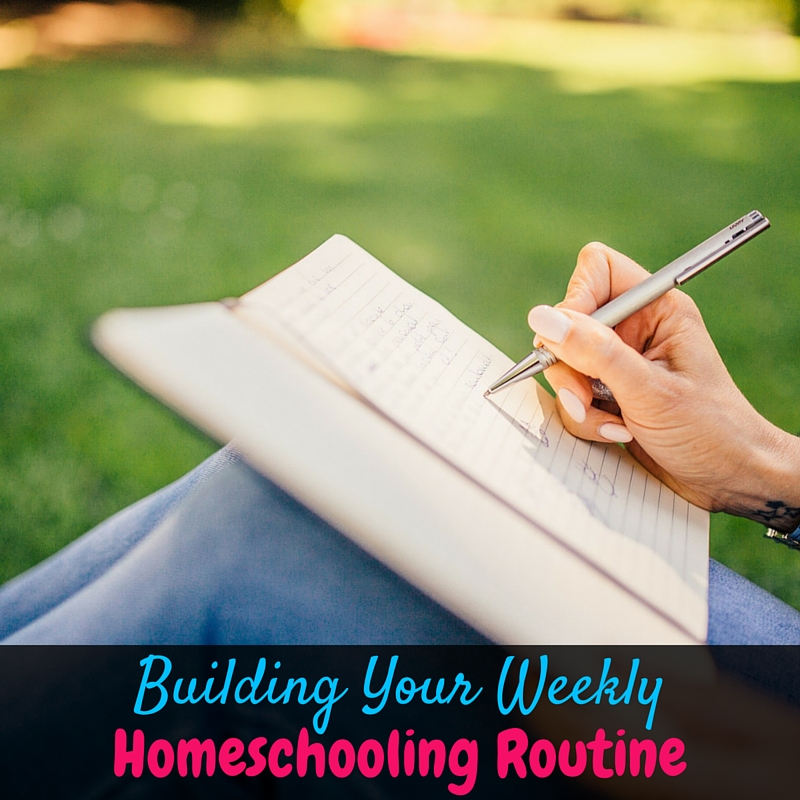 Building a weekly homeschooling routine is a huge part of back to homeschool prep! Your whole homeschooling year is easier with a good weekly routine!