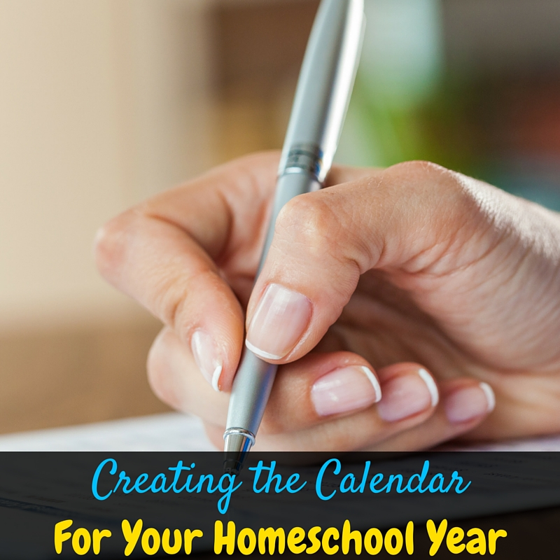 Even if you hate schedules, you absolutely need a homeschool calendar for the year. This is my painless method for creating my homeschool year calendar!