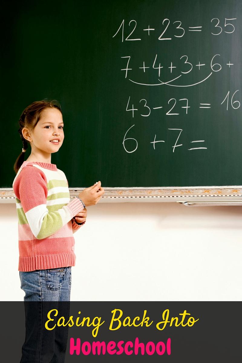 Easing Back into Homeschooling
