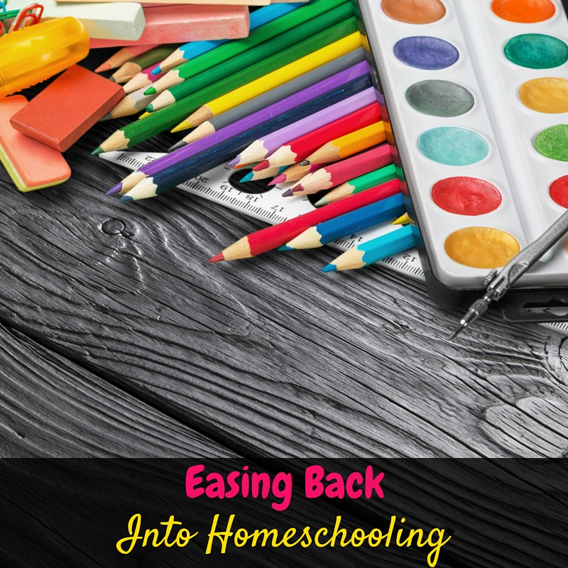 You should definitely spend some time easing back into homeschooling in the beginning of every homeschool year. It helps set your homeschool up for success!