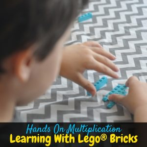 This is a fun way to practice hands on multiplication! Kids love learning with Lego® bricks! Plus get more with the Unofficial guide to Learning with Lego®