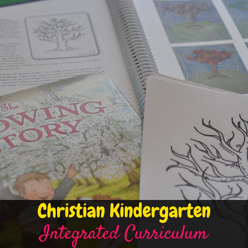 Kindergarten Stepping Stones is a fun, christian kindergarten integrated curriculum that is easy to adapt to each child's ability level! We love using it!