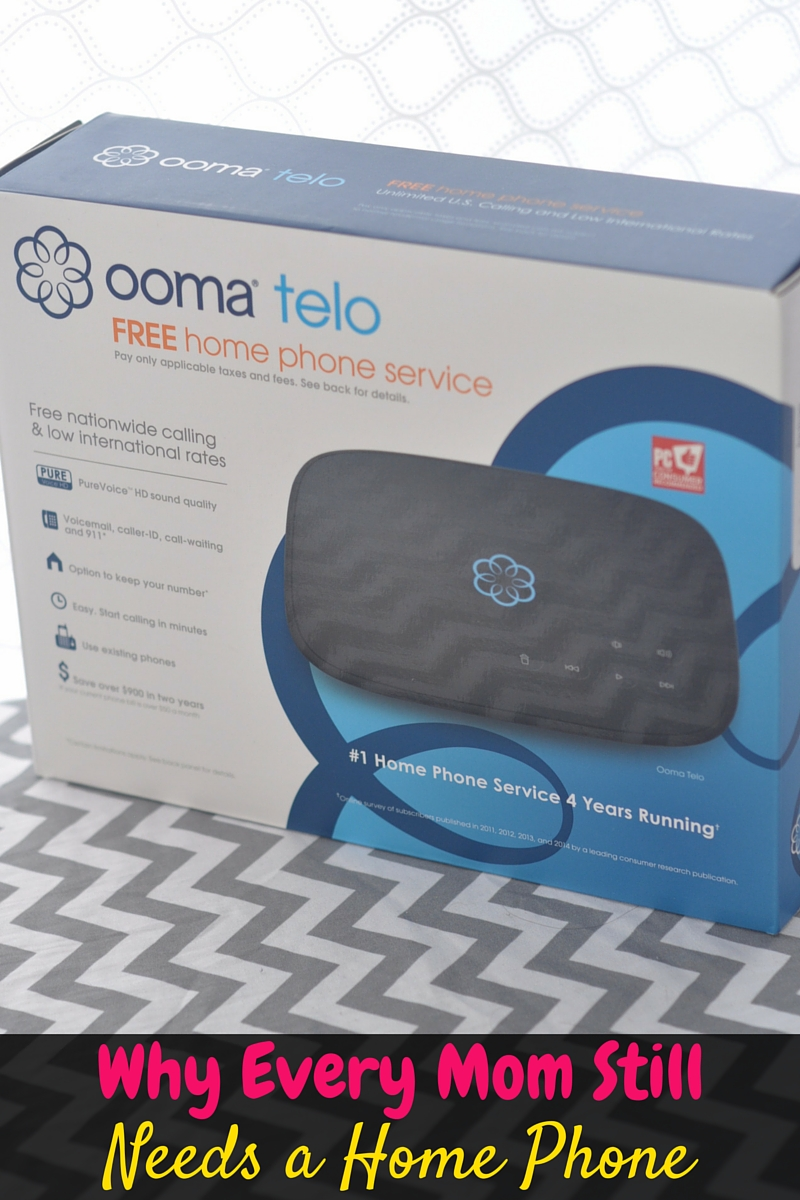 Even in a world where everyone has a cell phone, every mom still needs a home phone. With Ooma telephone service, it's not only affordable, but free!