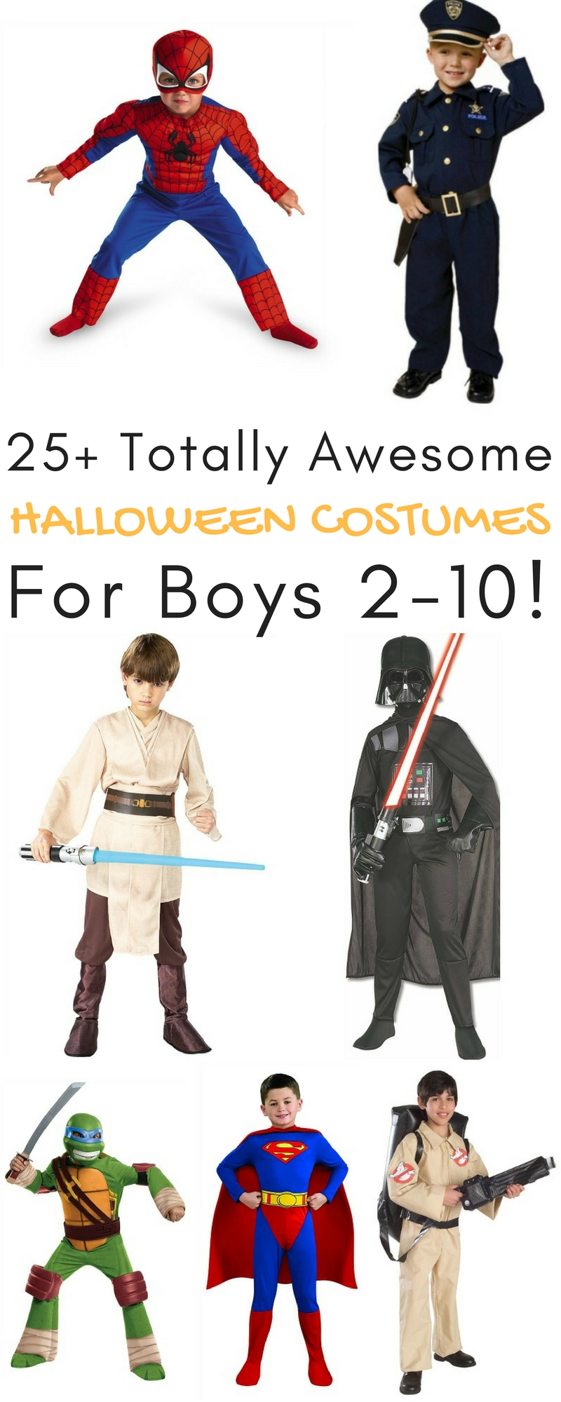 25+ Totally Awesome Halloween Costumes for Boys 2-10!