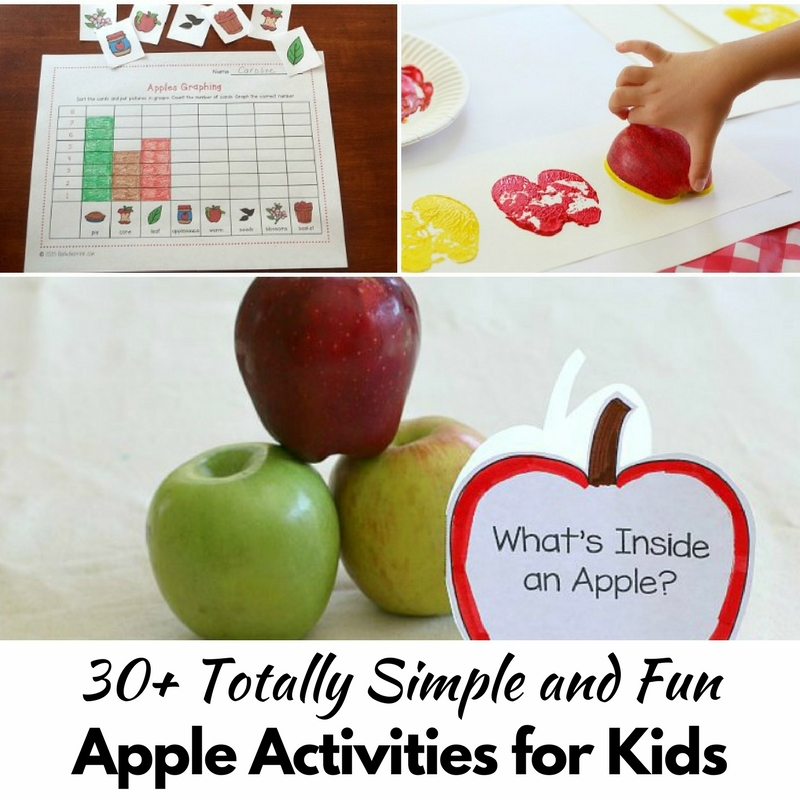 30+ Totally Fun and Simple Apple Activities for Kids!