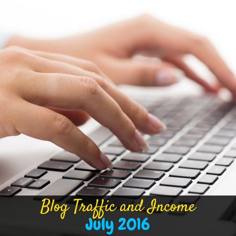 I share blogging traffic and income reports each month to encourage bloggers. Here's blog traffic and income report for July 2016!