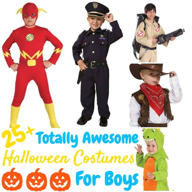 These totally awesome Halloween costumes for boys are seriously adorable and they're all available on Amazon so they're easy to buy! Perfect for busy moms!